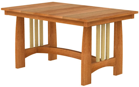 Sonora Dining Table in Cherry and Hard Maple