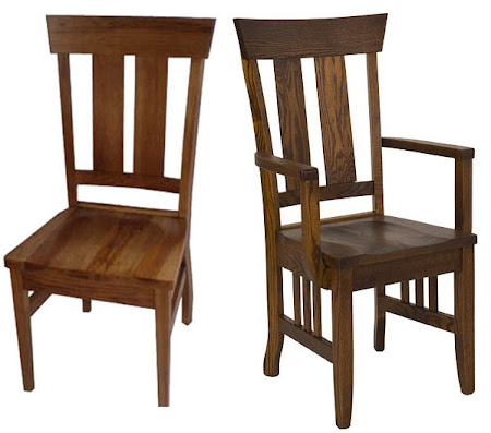 Monaco Dining Chair, Sunset Hickory and Mahogany Oak