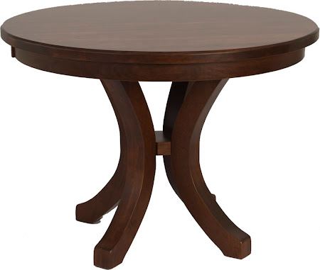 "36"" Diameter Montrose Style Table in Mahogany Oak"