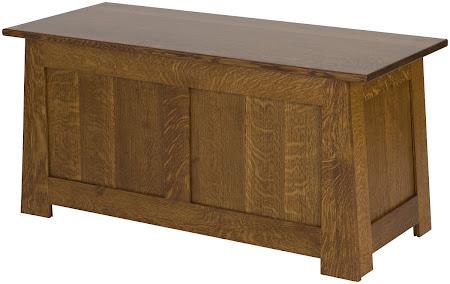 "36"" wide x 18"" high x 16"" deep Teton Chest in Rustic Quarter Sawn Oak"