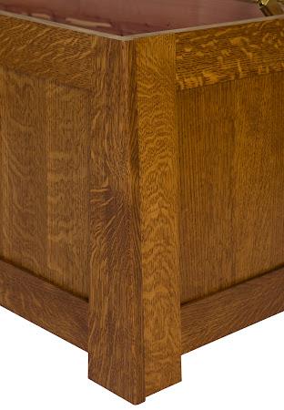 """36"""" wide Teton Chest in Rustic Quarter Sawn Oak"""