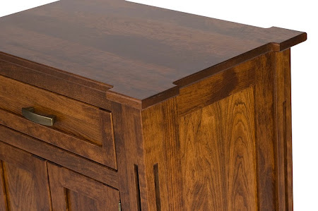 Sacramento Nightstand with Doors, in Blackened Oak