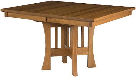 "48"" x 48"" Craftsman Table in Rustic Oak"