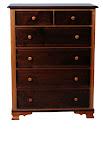 Mission Prairie Dresser, Walnut and Cherry Hardwood, Natural Finish