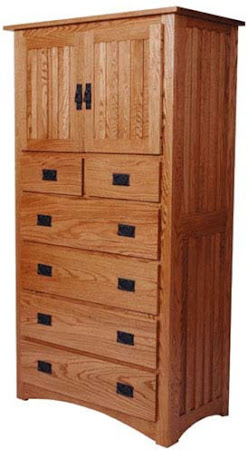Mission Armoire in Medium Oak