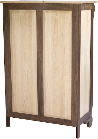 Classic Vertical Dresser, in Natural Hard Maple and Walnut