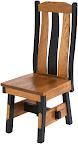 Savoy Dining Chair, Oak Hardwood, Medium and Midnight Finish