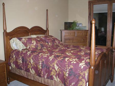 Tulip Bed Frame in Quarter Sawn Rustic Oak