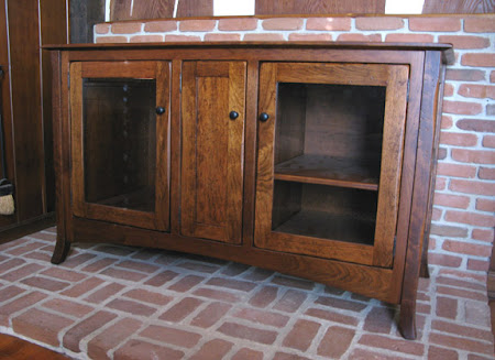 """60"""" wide x 30"""" high Lisbon Entertainment Center Shown in Custom Distressed Wood"""