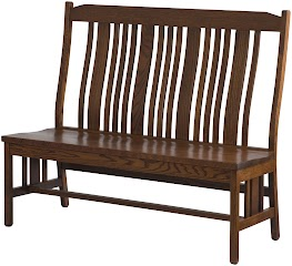 plains mission bench with back