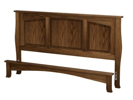 Cascade Platform Bed in   Mahogany Oak