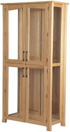 Oak Glass Door Bookshelves