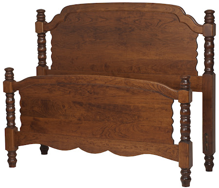 Farmhouse Bed Frame in Antique Cherry