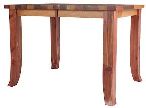 42 x 43 Pennsylvania Kitchen Table in Custom Walnut, Cherry and Cedar