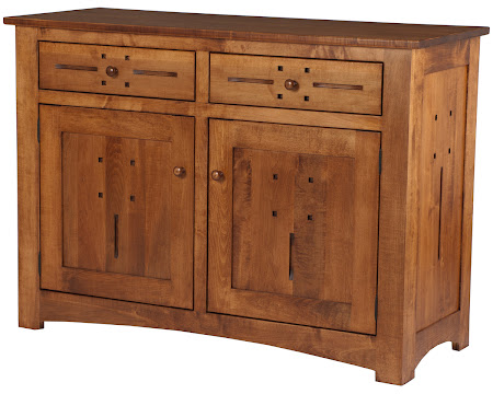 """36"""" high x 50"""" wide x 20"""" deep Florence Kitchen Buffet in Colonial Maple"""