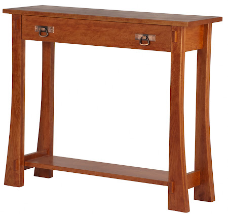 Seville Sofa Table in Red Cherry, Shown with Drawer