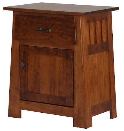 Matching Furniture Piece: Teton Nightstand with Door, in Antique Cherry