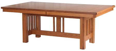 """80"""" x 48"""" Plains Mission Table in Vintage Cherry"""