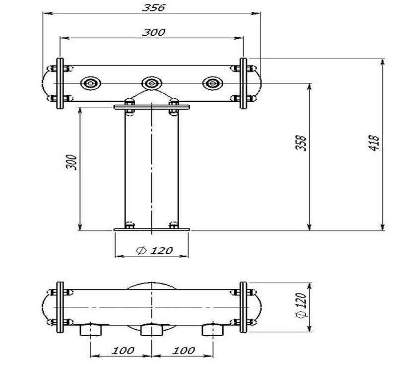 чертеж пивной колонны Т-образной