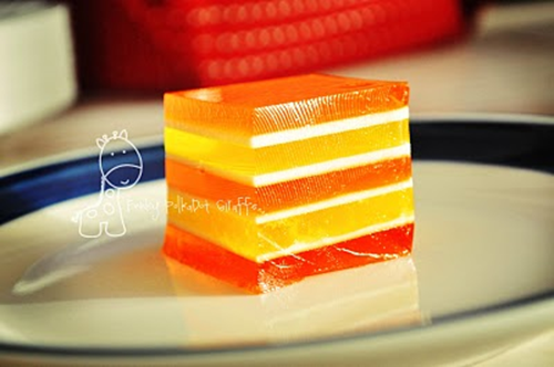candy corn layered jello
