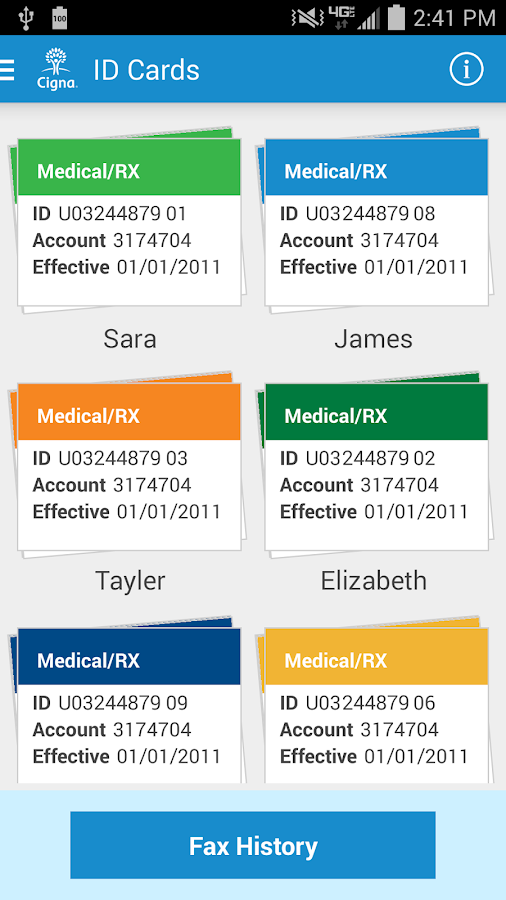 myCigna - screenshot