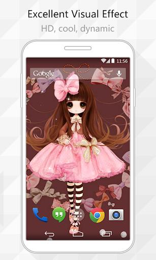 Pink Girl Live Wallpaper