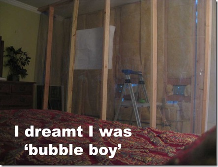 bubble boy's bed