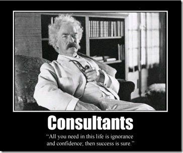 mark twain ignorance success consultants