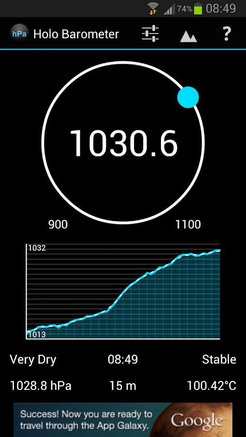 holo barometer android apps on google play. Black Bedroom Furniture Sets. Home Design Ideas