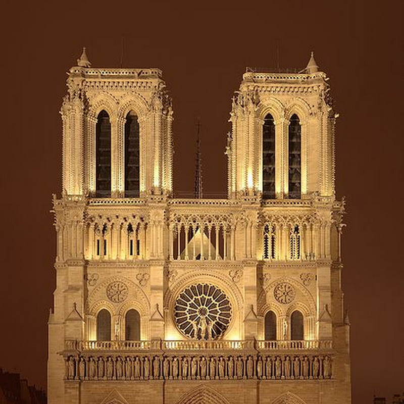 Notre Dame de Paris was one of the first Gothic cathedrals, and its construction spanned the Gothic period.