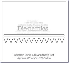 SMBanner Strip DIe & Stamp Set Die-namics