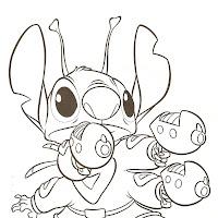 Dibujos De Stitch Para Colorear De Lilo Y Stitch