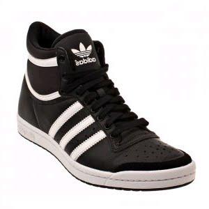 Fracción ataque mordedura  All footwear:world all footwear collection and showroom: Adidas Top Ten Hi  - Sleek Sneaker - Black / White