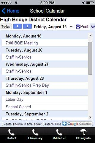 High Bridge School District- screenshot