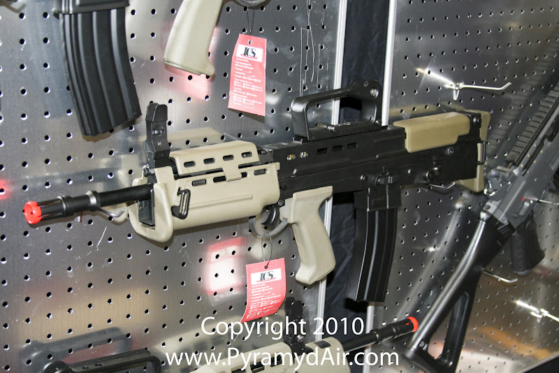 Airsoft Guns, ICS, Shot Show 2011 News Updates, Shot Show 2011 ICS Booth, ICS L85 A2 Carbine, Airsoft carbine rifle,Airsoft Automatic Electric Guns, Airsoft assault rifle,Airsoft AEG, Airsoft L85,Pyramyd Air, Pyramyd Airsoft Blog, Airsoft Obsessed, Airsoft Blog