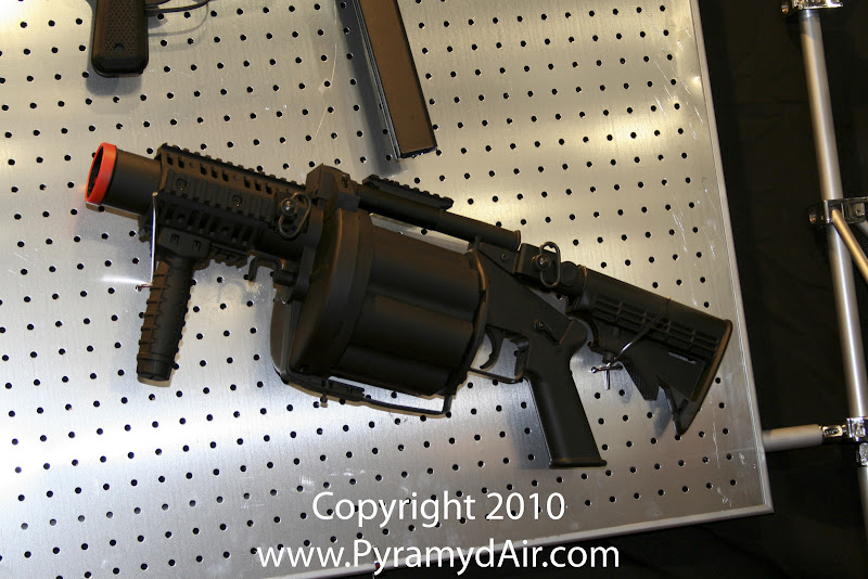 Airsoft Guns, ICS, Shot Show 2011 News Updates, Shot Show 2011 ICS Booth, ICS GLM Airsoft Grenade Launcher, Airsoft Grenade Revolver,Airsoft M203 Launcher, M203 Revolver,Propane Gas,Pyramyd Air, Pyramyd Airsoft Blog, Airsoft Obsessed, Airsoft Blog