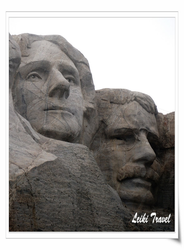 Mount Rushmore 總統石像, Jefferson and Roosevelt