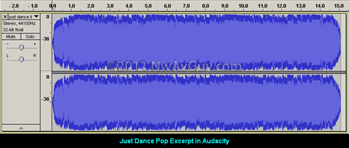 Just Dance Pop Excerpt in Audacity