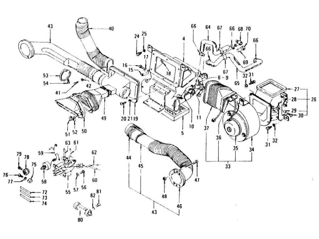 datsun 240z heater hose diagram