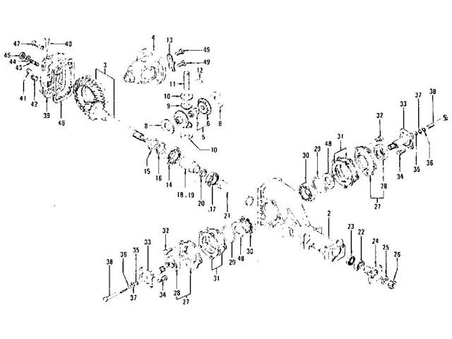 Differential Gear, Pinion & Cover (R180)