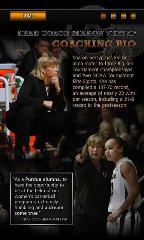 Purdue Women's Basketball - screenshot