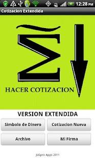 Cotizacion Extendida- screenshot thumbnail