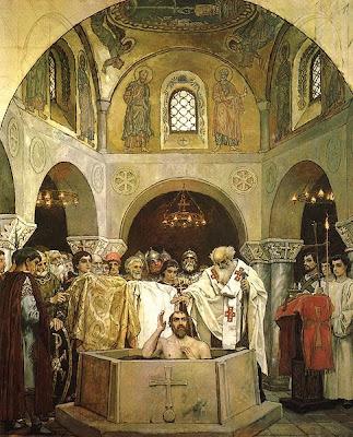 Bautismo de San Vladimiro, conversión de Rusia