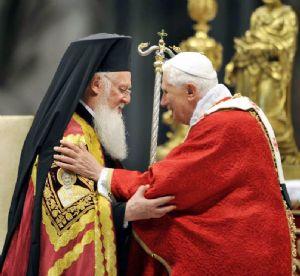 Bartolomé I y Benedicto XVI