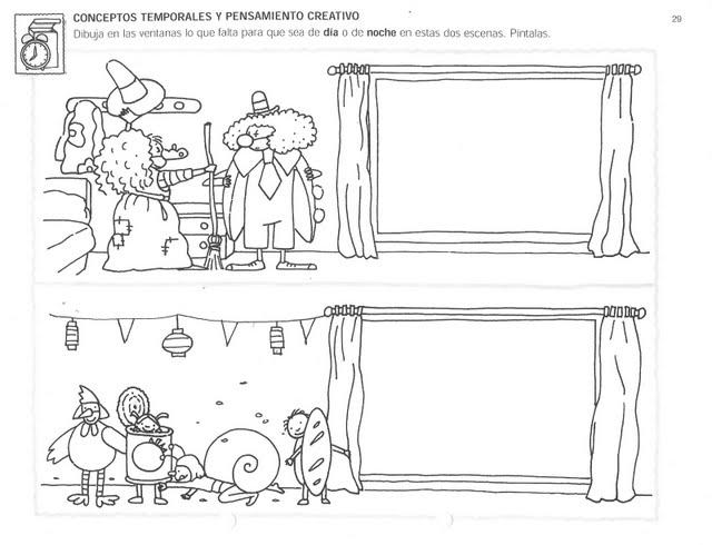 Laminas De Actividades De Preescolar Pinta Y Trabaja