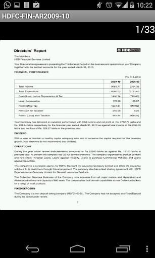 HDB Fin Services Ltd AR2009-10