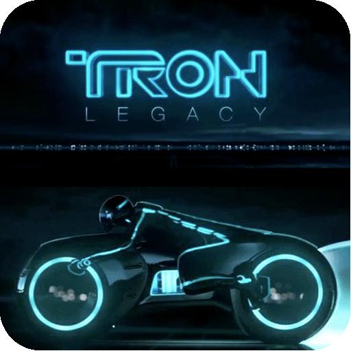 Tron Legend Light Cycle 3D LOGO-APP點子
