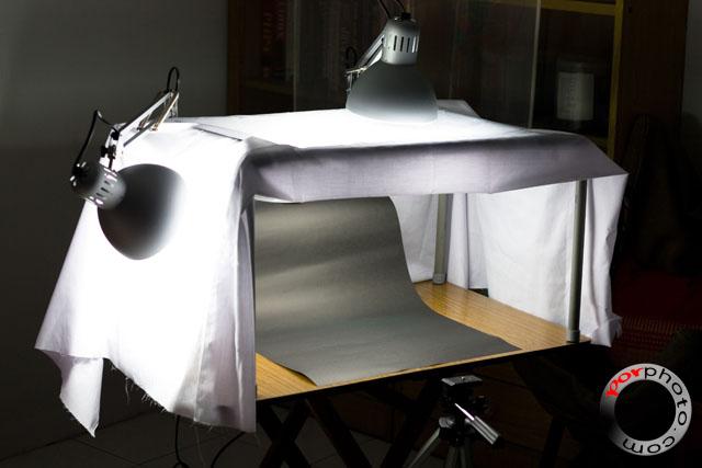 Por Photo   Home Studio DIY Lighting Rig