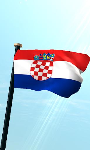 克羅地亞旗3D免費動態桌布