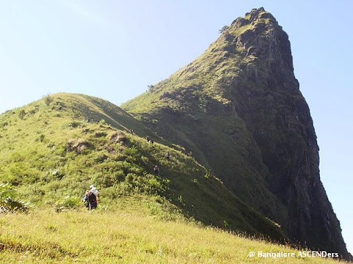 Ettina Bhuja peak from north side, its very steep climb to the peak